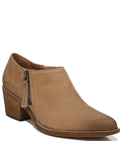 Zodiac Margot Snake Embossed Leather Ankle Booties