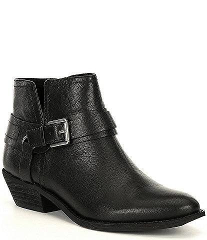 Zodiac Marley Buckle Detail Block Heel Ankle Booties