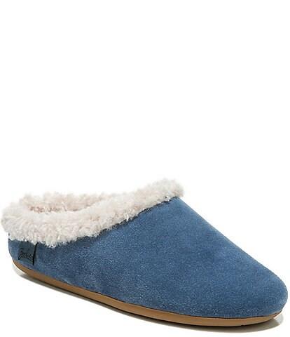 Zodiac Paloma Suede Fuzzy Trim Slippers