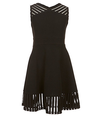 Zunie Big Girls 7-16 Fishnet Fit-and-Flare Dress
