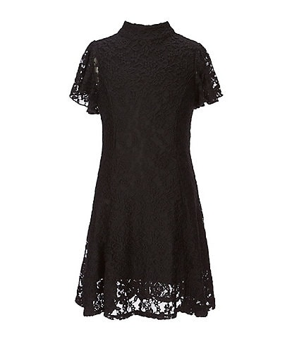 Zunie Big Girls 7-16 Patterned-Lace Shift Dress