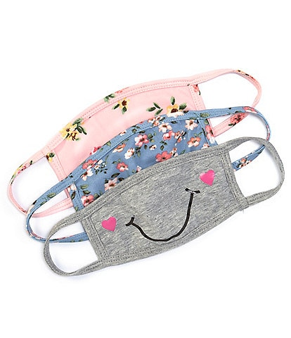 Zunie Girls 2-12 Florals Cloths Face Masks 3-Pack
