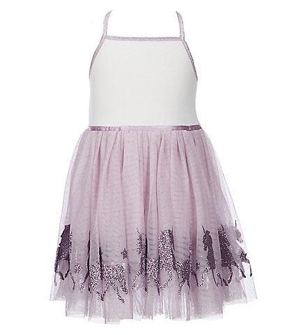 Zunie Little Girls 2T-6X Unicorn Border Tutu Dress