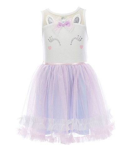 Zunie Little Girls 4-6X Illusion Unicorn Tutu Dress