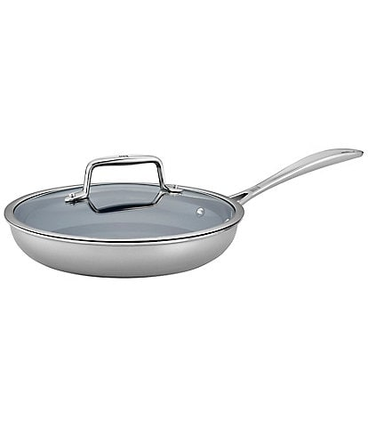 Zwilling Clad CFX 2-pc Stainless Steel Ceramic Nonstick Fry Pan with Lid