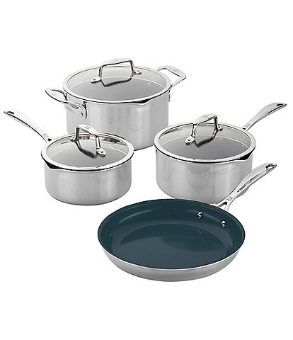 Zwilling Clad CFX 7pc Stainless Steel Ceramic Nonstick Cookware Set