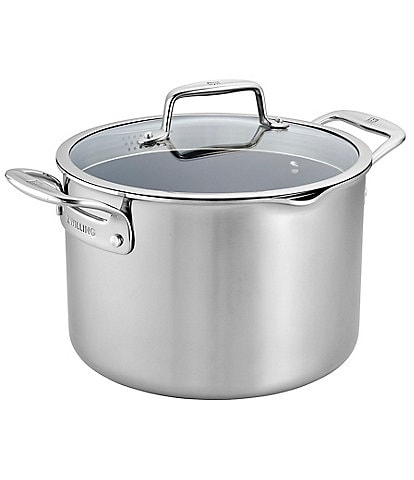 Zwilling Clad CFX 8-qt Stainless Steel Ceramic Nonstick Stock Pot