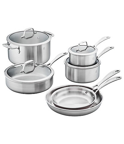 Zwilling Spirit 3-Ply 10-Piece Stainless Steel Cookware Set