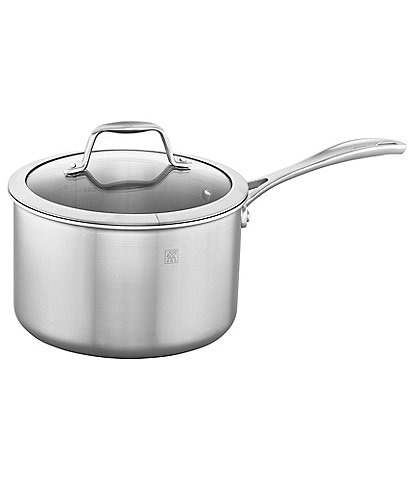 Zwilling Spirit 3-Ply 4-Qt Stainless Steel Covered Saucepan