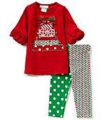 Bonnie Jean Little Girls 2T-6X Christmas Joy Dress & Patterned ...