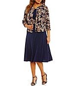 Jessica Howard Plus Lace 2-Piece Jacket Dress | Dillards