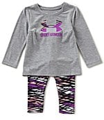 under armour 24 months. under armour baby girls 12-24 months icon tee \u0026 printed leggings set 24 d