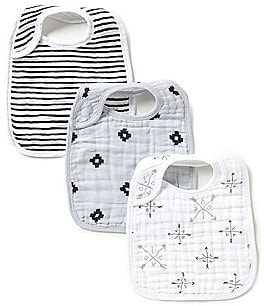 Image of Aden + Anais Printed 3-Pack Muslin Bibs