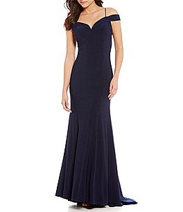 Image of Adrianna Papell Cold Shoulder Mermaid Gown