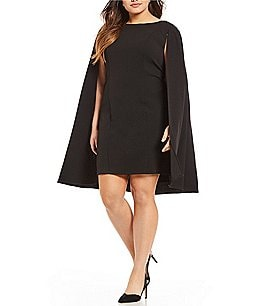 Image of Adrianna Papell Plus Capelet Sheath Dress