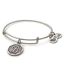 Image of Alex and Ani Initial Charm Bangle Bracelet