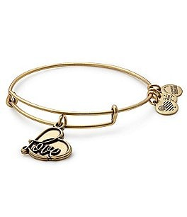 Image of Alex and Ani Love Charm Bangle Bracelet