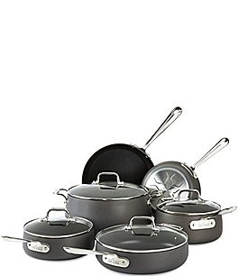 Image of All-Clad HA1 Hard-Anodized Nonstick 10-Piece Cookware Set