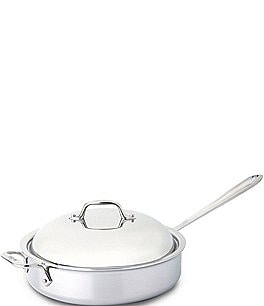 Image of All-Clad Stainless Steel 4-Quart Sauté Pan with Dome Cover
