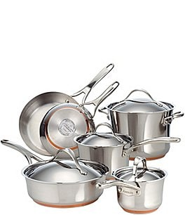 Image of Anolon Nouvelle Copper & Stainless Steel 10-Piece Cookware Set