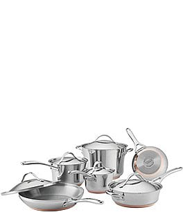 Image of Anolon Nouvelle Copper Stainless Steel 11-Piece Cookware Set