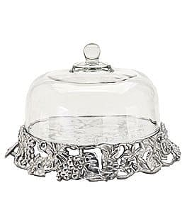 Image of Arthur Court Grape Cake Tray with Dome