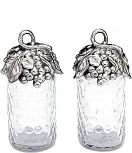 Image of Arthur Court Grape Honeycomb Glass Salt & Pepper Shaker Set
