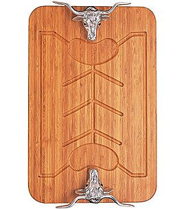 Image of Arthur Court Longhorn Bamboo Carving Board