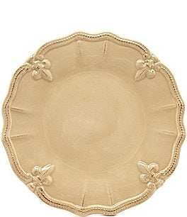 Image of Artimino Beaded Fleur-de-Lis Earthenware Dinner Plate