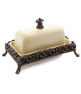 "Image of Artimino Tuscan Countryside 9"" Covered Butter Dish"