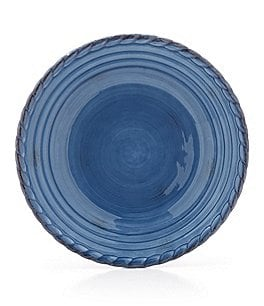 Image of Artimino Tuscan Countryside Rope-Edged Stoneware Dinner Plate