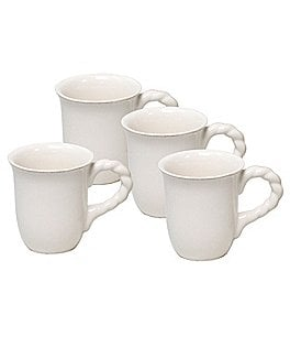 Image of Artimino 4-Piece Tuscan Countryside Rope-Handled Stoneware Mug Set