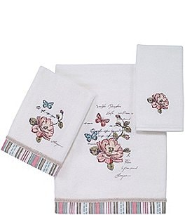Image of Avanti Linens Butterfly Garden Cotton Bath Towels