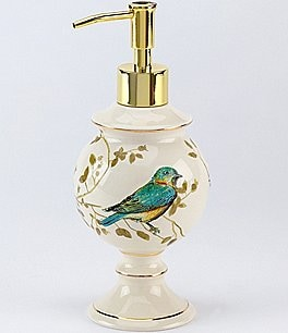Image of Avanti Linens Gilded Birds Lotion Bottle