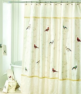 Image of Avanti Linens Gilded Birds Shower Curtain