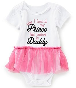 Image of Baby Starters Baby Girls 3-12 Months Short-Sleeve I Found My Prince Bodysuit