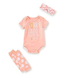 Image of Baby Starters Baby Girls Newborn-12 Months Boss Baby 3-Piece Set