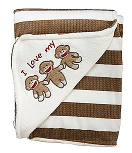 Image of Baby Starters Sock Monkey Plush Blanket