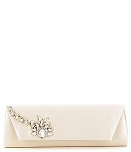 Image of Badgley Mischka Aria Jewel Flap Clutch