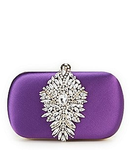 Image of Badgley Mischka Aurora Brooch Clutch