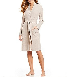 Image of Barefoot Dreams CozyChic Light Ribbed Short Wrap Robe