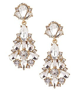 Image of Belle Badgley Mischka Jonette Chandelier Statement Earrings