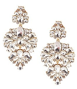 Image of Belle Badgley Mischka Pavo Real Chandelier Statement Earrings