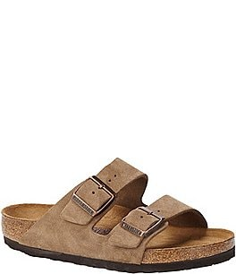 Image of Birkenstock Women's Arizona Suede Dual Adjustable Buckle Strap Sandals