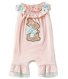 Image of Bonnie Baby Baby Girls Newborn-24 Months Easter Bunny Coverall