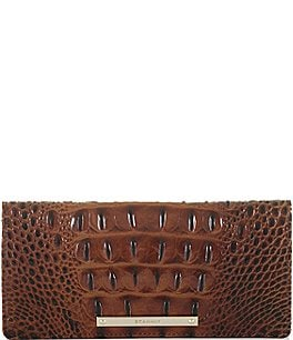 Image of Brahmin Melbourne Collection Ady Crocodile-Embossed Wallet