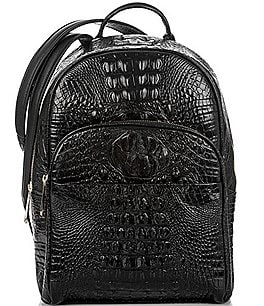 Image of Brahmin Melbourne Collection Dartmouth Croco-Embossed Backpack