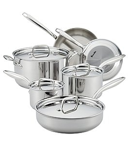Image of Breville® Thermal Pro™ Clad 10-Piece Stainless Steel Cookware Set