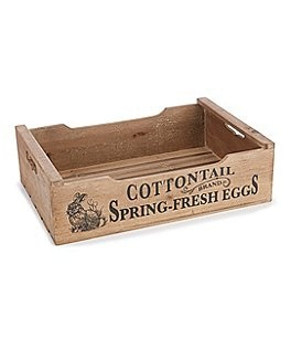 Image of Burton Burton Easter Collection Cottontail Fresh Eggs Wood Crate