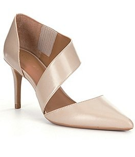 Image of Calvin Klein Gella Leather Asymmetrical Pumps